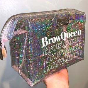 Benefit 🌈 Brow Queen Glitter Makeup Bag NWOT